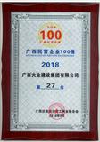 2018广西民营企业100强